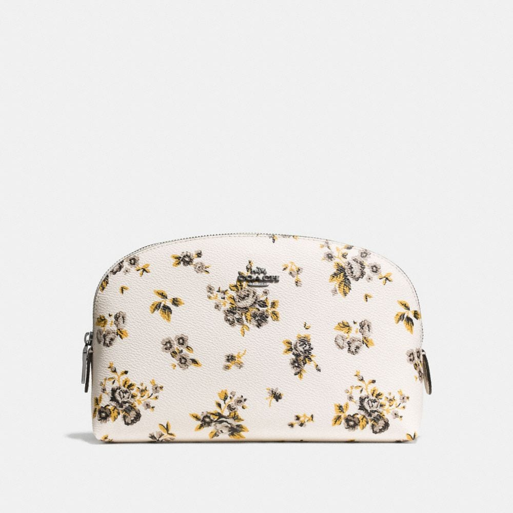 COSMETIC CASE 22 IN PRAIRIE PRINT COATED CANVAS