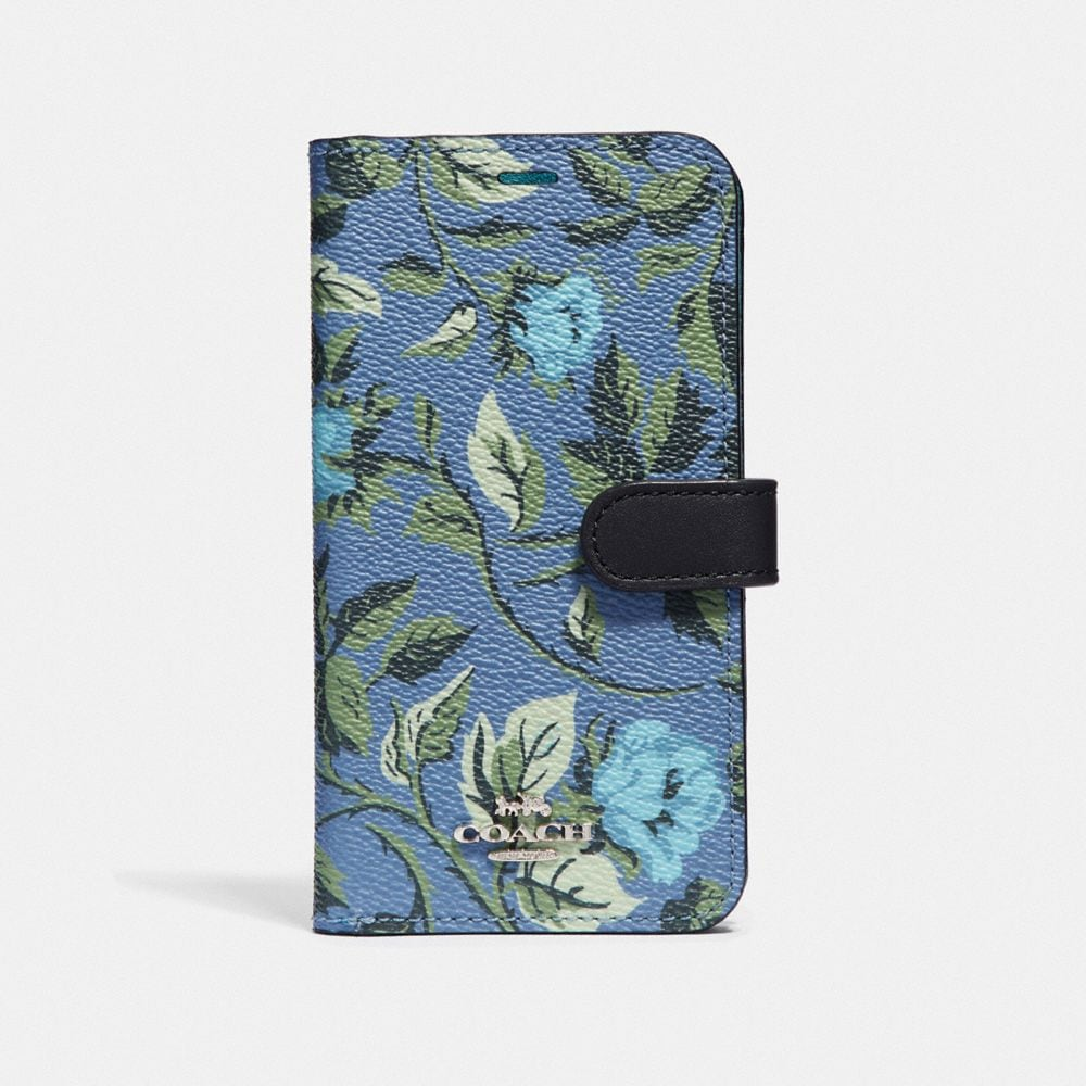 IPHONE X/XS FOLIO WITH SLEEPING ROSE PRINT