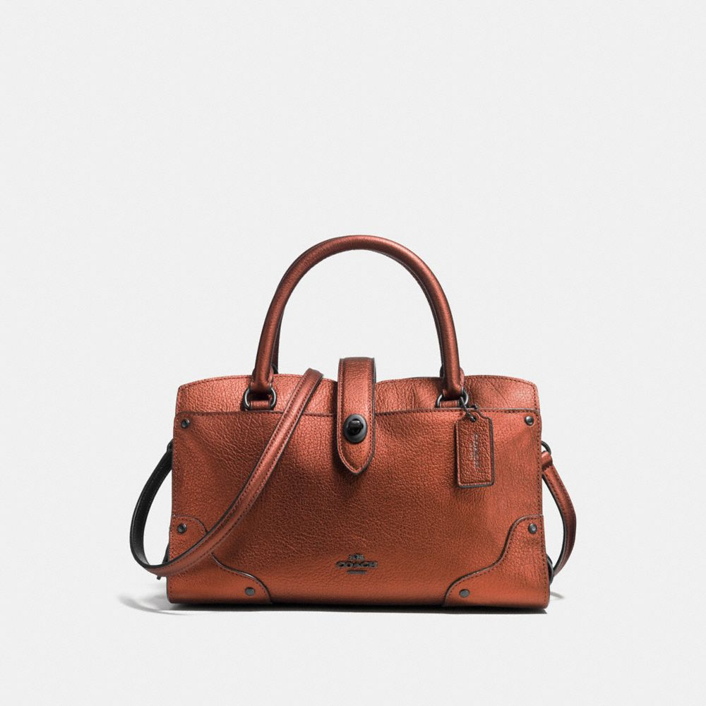 MERCER SATCHEL 24 IN METALLIC LEATHER