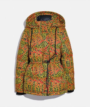 DISNEY MICKEY MOUSE X KEITH HARING WOVEN PUFFER