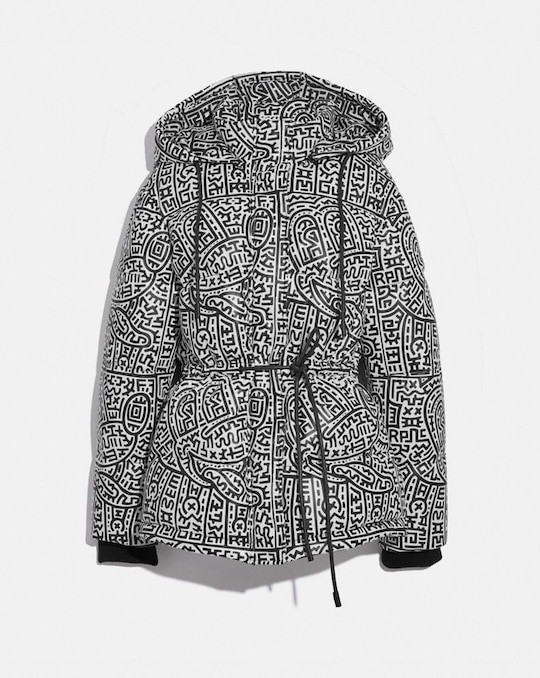 DISNEY MICKEY MOUSE X KEITH HARING LEATHER PUFFER JACKET