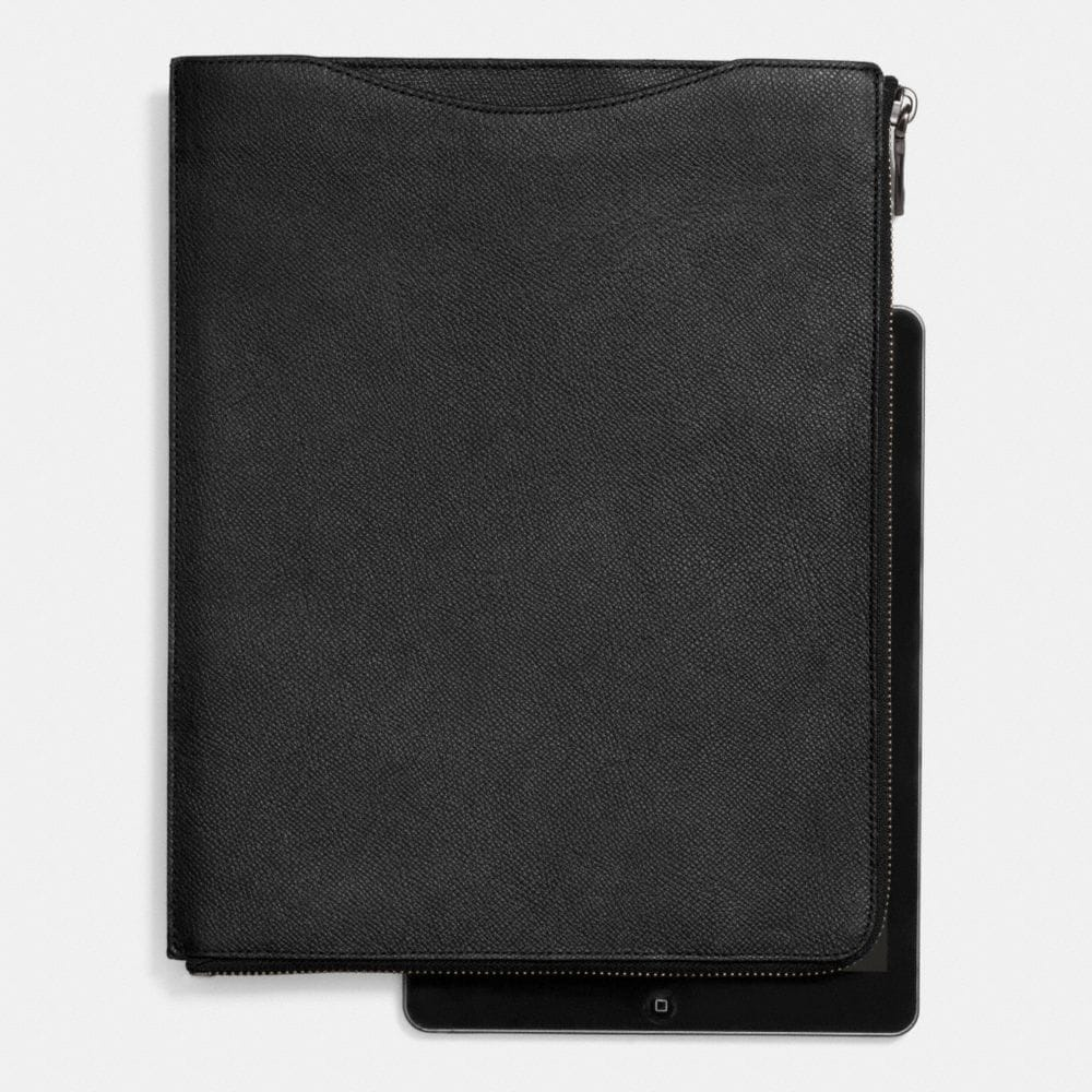 SLIM ZIP TABLET CASE IN CROSSGRAIN LEATHER