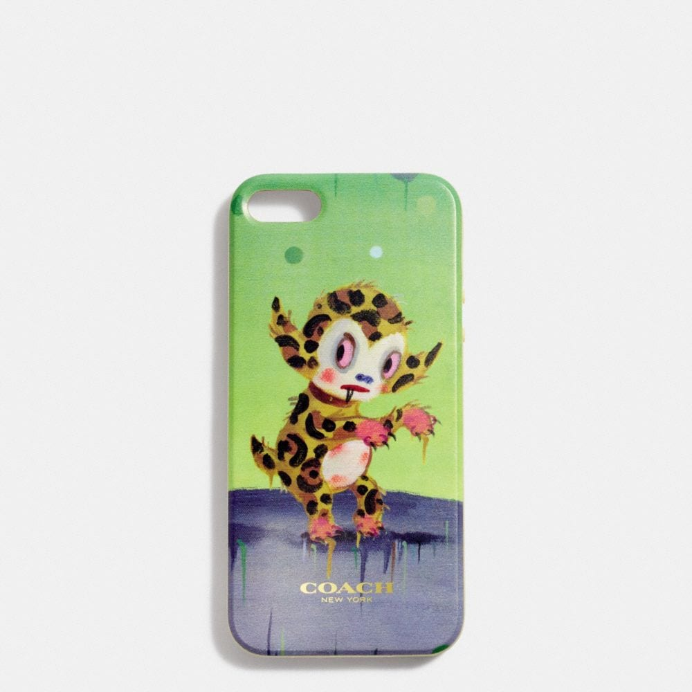 COACH X BASEMAN BUSTER LE FAUVE IPHONE CASE IN MOLDED PLASTIC