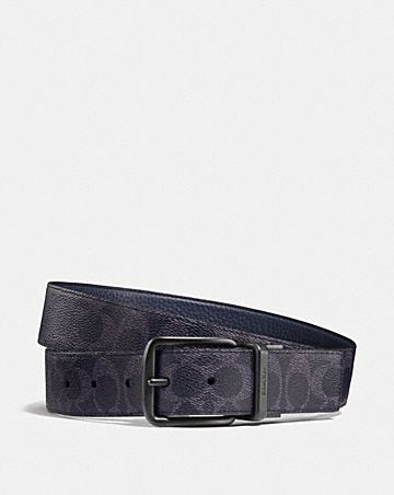 745936a873b WIDE HARNESS CUT-TO-SIZE REVERSIBLE BELT IN SIGNATURE CANVAS ...