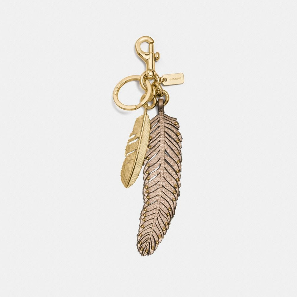 MULTI FEATHER BAG CHARM