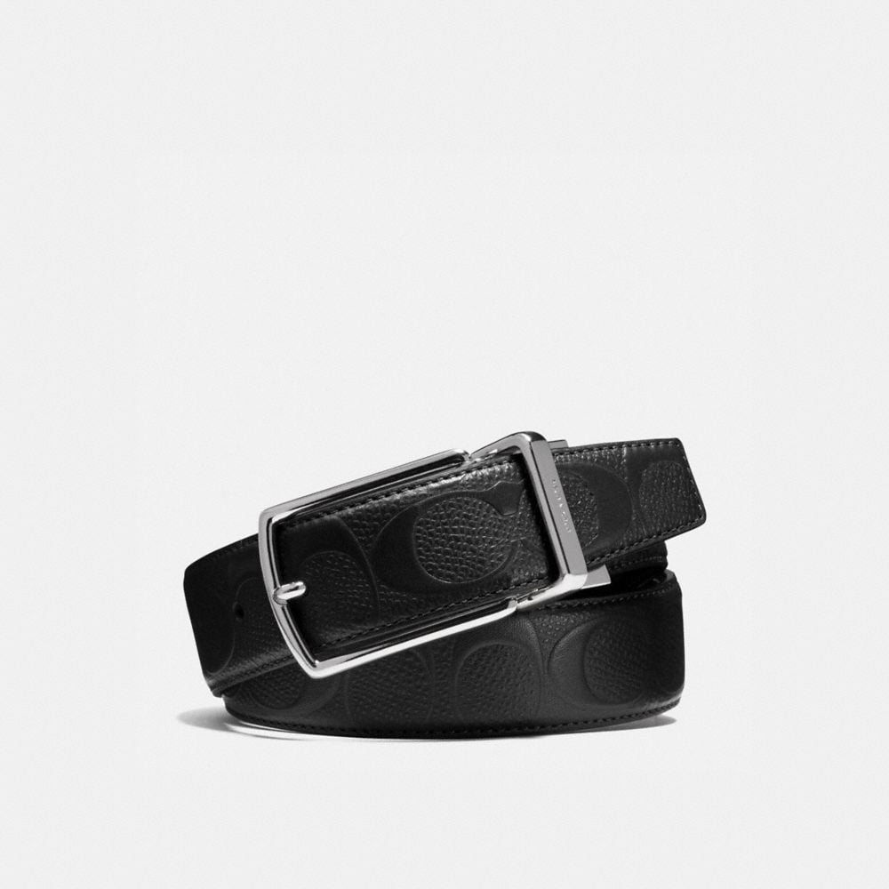 MODERN HARNESS CUT-TO-SIZE REVERSIBLE SIGNATURE CROSSGRAIN BELT