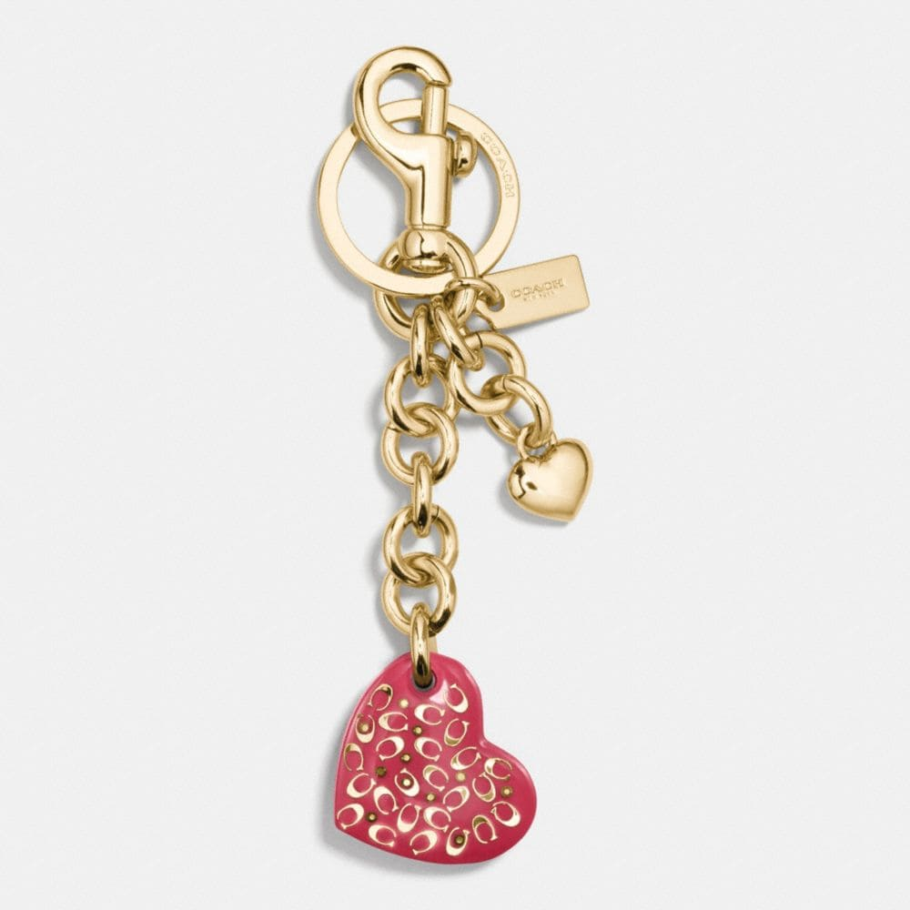 SPRINKLE C RESIN HEART BAG CHARM