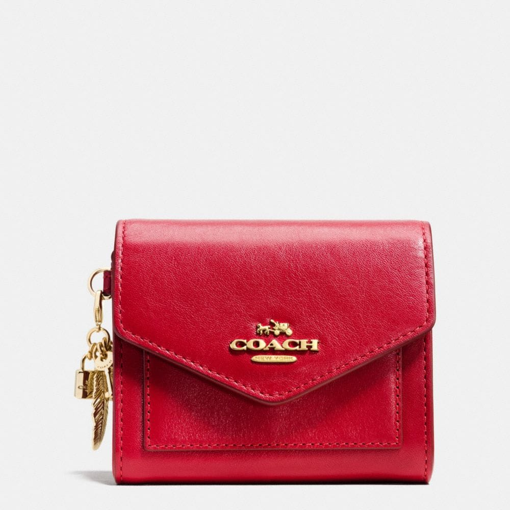 CHARM COMPACT CASE IN CALF LEATHER