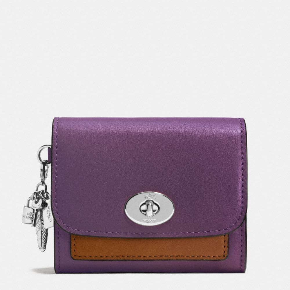 CHARM COMPACT CASE IN COLORBLOCK LEATHER