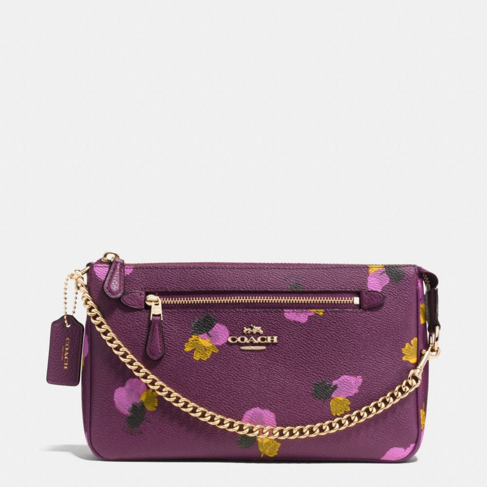 NOLITA WRISTLET 24 IN FLORAL PRINT COATED CANVAS