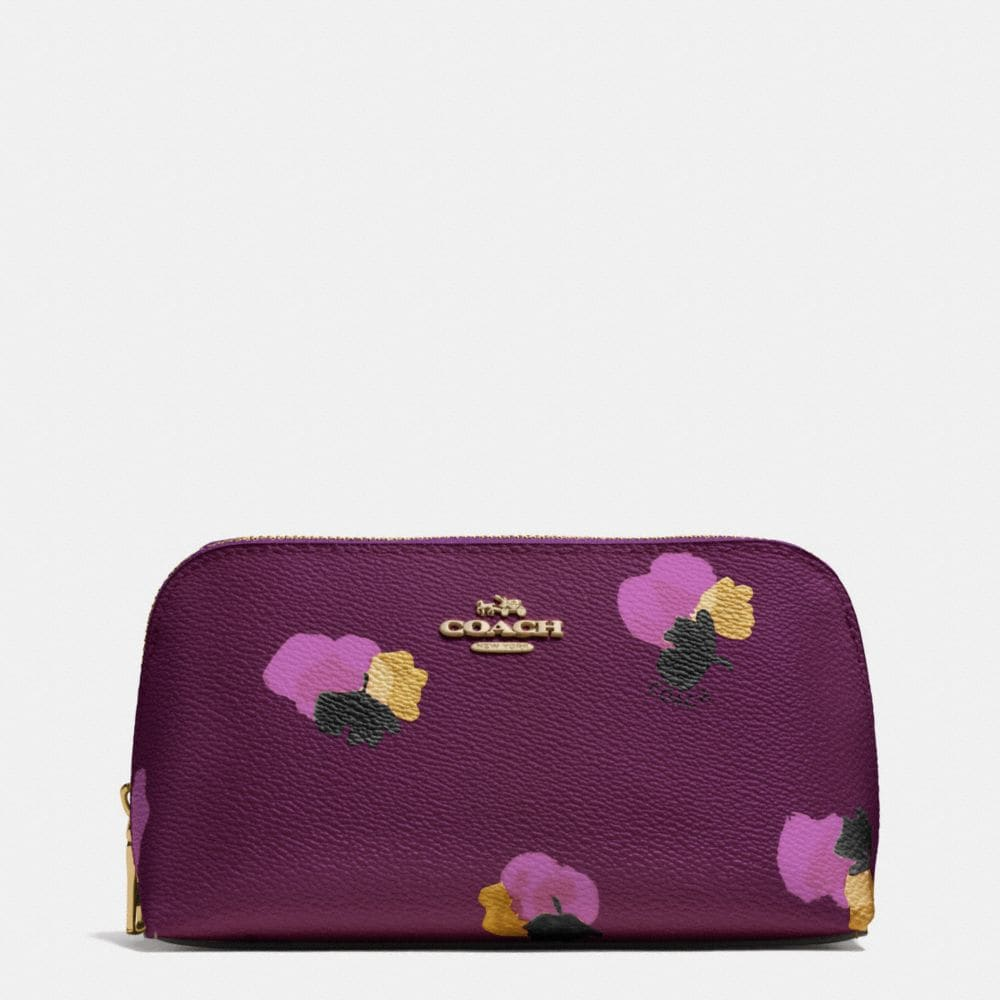 COSMETIC CASE 17 IN FLORAL PRINT COATED CANVAS