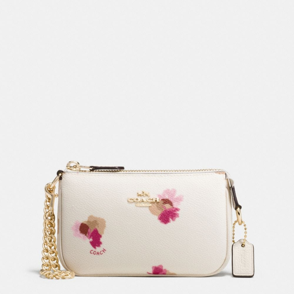 NOLITA WRISTLET 15 IN FLORAL PRINT COATED CANVAS