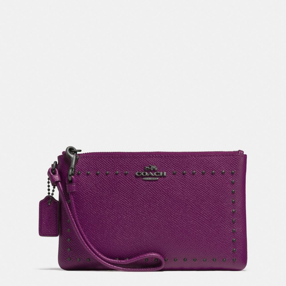 EDGE STUDS SMALL WRISTLET IN LEATHER