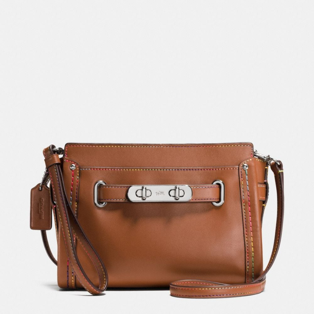 COACH SWAGGER WRISTLET IN RAINBOW STITCH LEATHER