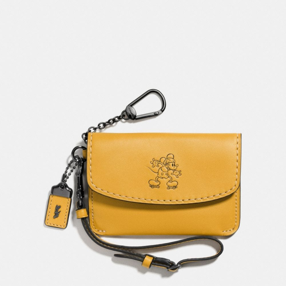 MICKEY ENVELOPE KEY POUCH IN GLOVETANNED LEATHER