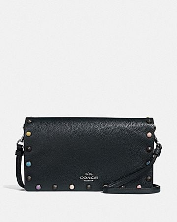 1d5e6dfb51b0 HAYDEN FOLDOVER CROSSBODY CLUTCH WITH RIVETS ...
