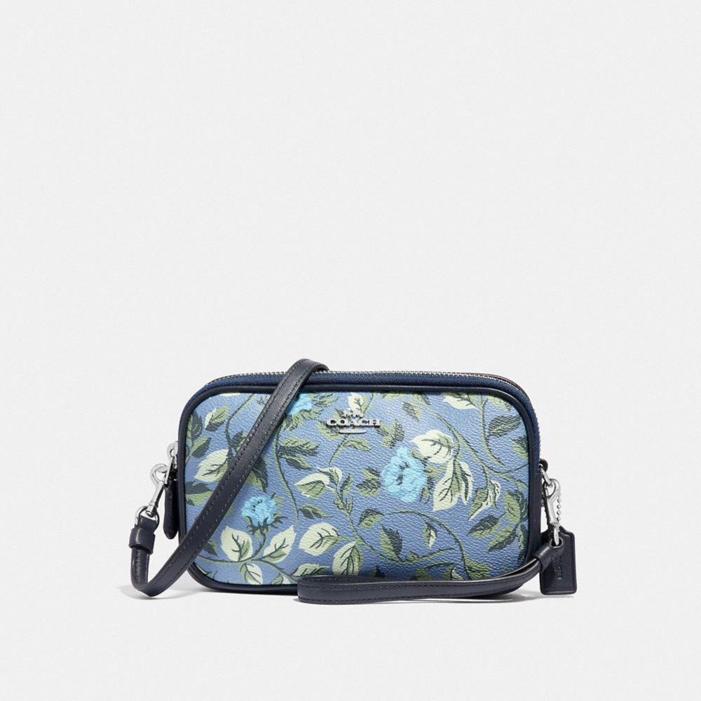 SADIE CROSSBODY CLUTCH WITH SLEEPING ROSE PRINT