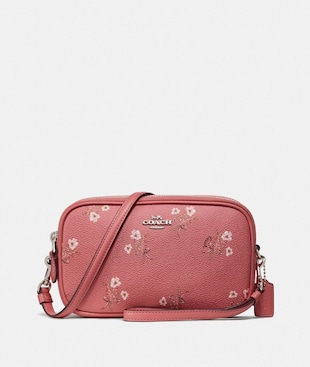 SADIE CROSSBODY CLUTCH WITH FLORAL BOW PRINT