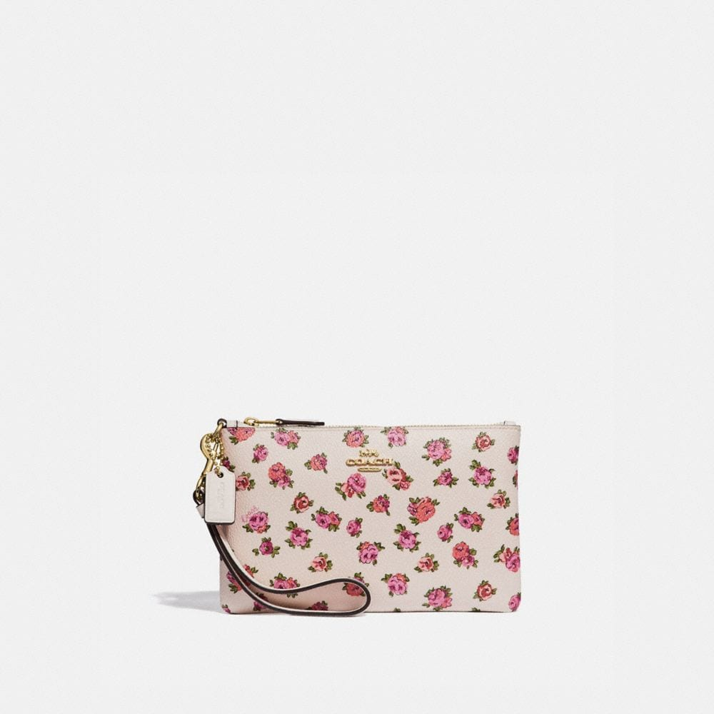 SMALL WRISTLET WITH MINI VINTAGE ROSE PRINT