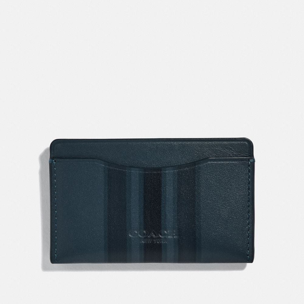 SMALL CARD CASE WITH PAINTED VARSITY STRIPE