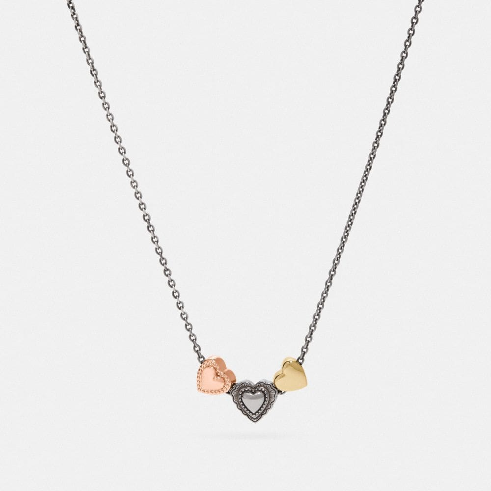SCALLOP HEART SLIDER NECKLACE