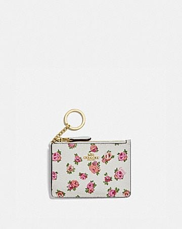 MINI SKINNY ID CASE WITH MINI VINTAGE ROSE PRINT