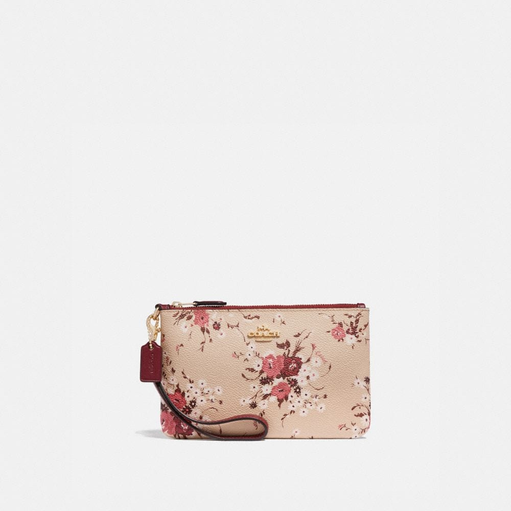 SMALL WRISTLET WITH FLORAL BUNDLE PRINT