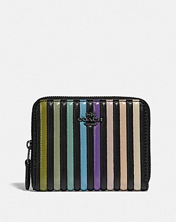 SMALL ZIP AROUND WALLET WITH OMBRE QUILTING