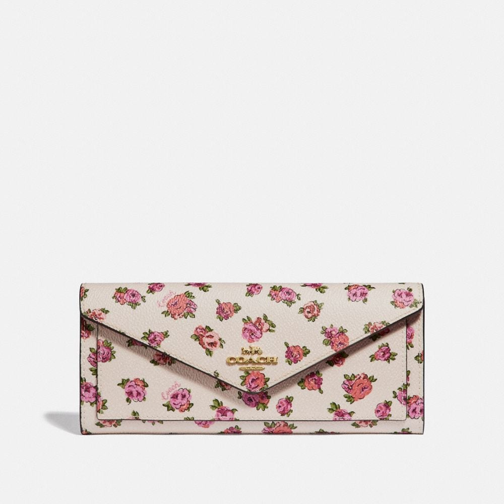 SOFT WALLET WITH MINI VINTAGE ROSE PRINT