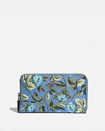 59012fa016e7 MEDIUM ZIP AROUND WALLET WITH SLEEPING ROSE PRINT ...