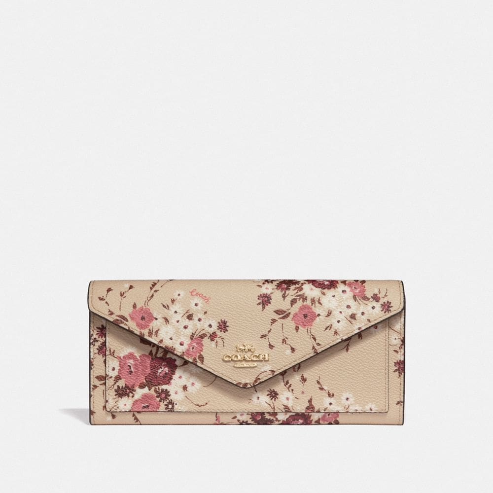 SOFT WALLET WITH FLORAL BUNDLE PRINT