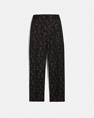 CROPPED TAILORED JACQUARD PANTS