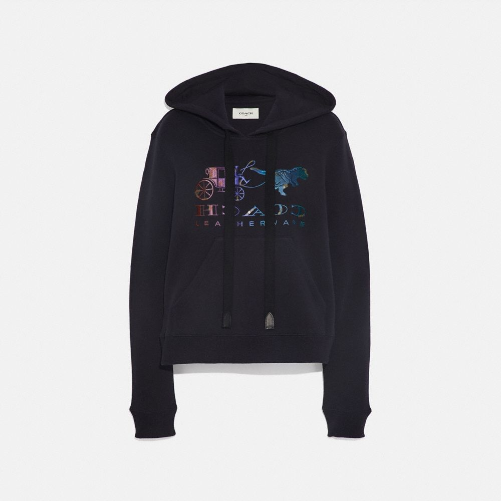 MIRRORED REXY AND CARRAGE SATIN STITCH SWEATSHIRT