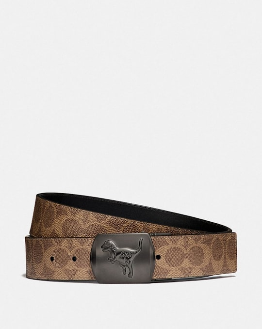 REXY PLAQUE BUCKLE CUT-TO-SIZE REVERSIBLE BELT, 38MM