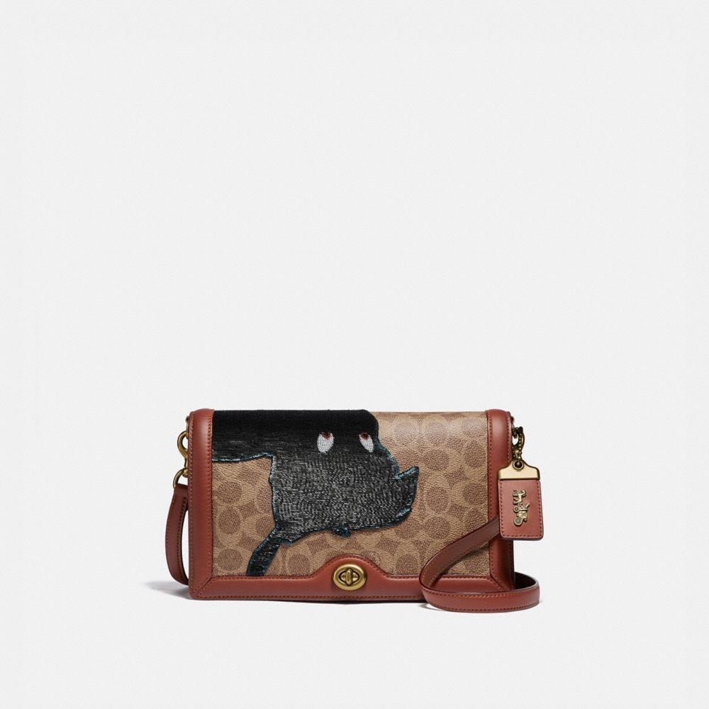 DISNEY X COACH SIGNATURE RILEY WITH EMBELLISHED PETER PAN