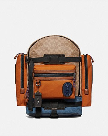 f879cb9052 RIDGE BACKPACK IN SIGNATURE CANVAS WITH COACH PATCH ...