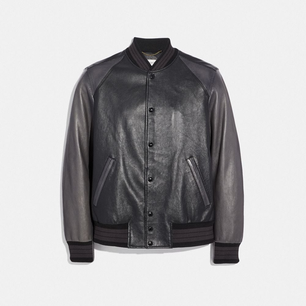 LEATHER VARSITY JACKET