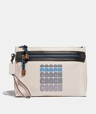 ACADEMY POUCH WITH COACH PRINT