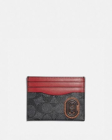 CARD CASE IN SIGNATURE CANVAS WITH COACH PRINT