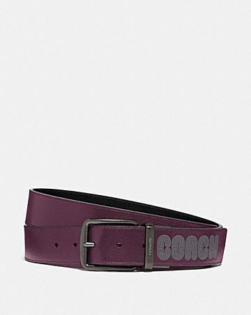 HARNESS BELT WITH COACH PRINT