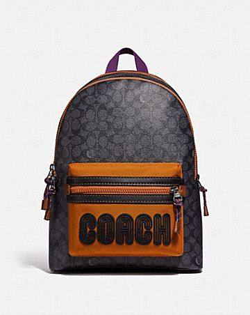 a36a91be972 academy backpack in signature canvas with coach.