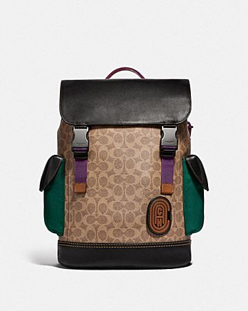 13667cf3d13d RIVINGTON BACKPACK IN SIGNATURE CANVAS WITH COACH PATCH ...