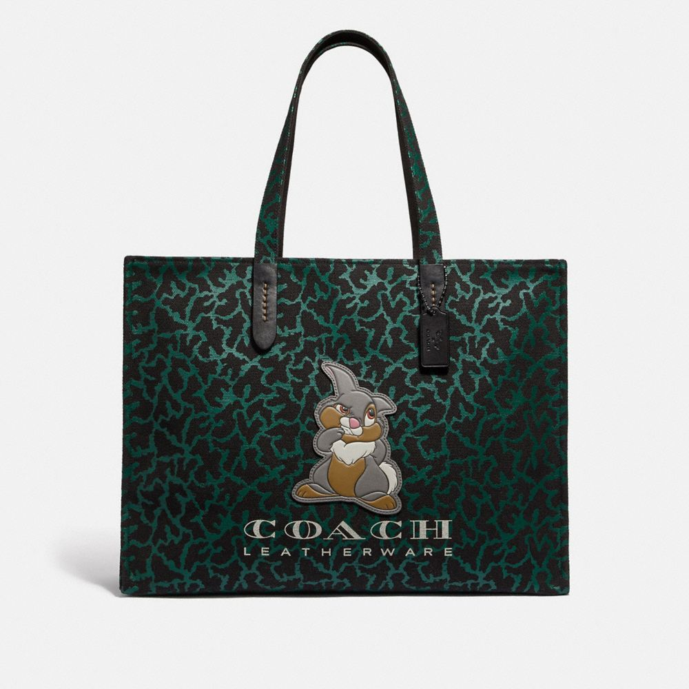 DISNEY X COACH THUMPER TOTE 42 WITH GRAPHIC ANIMAL PRINT