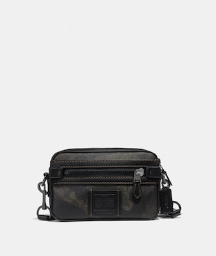 ACADEMY CROSSBODY IN SIGNATURE CANVAS WITH WILD BEAST PRINT