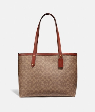 CENTRAL TOTE WITH ZIP IN SIGNATURE CANVAS