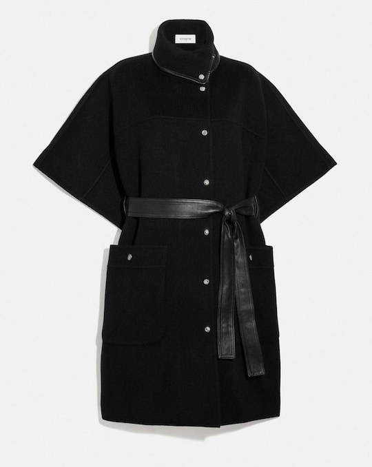 DOUBLE FACE BELTED CAPE
