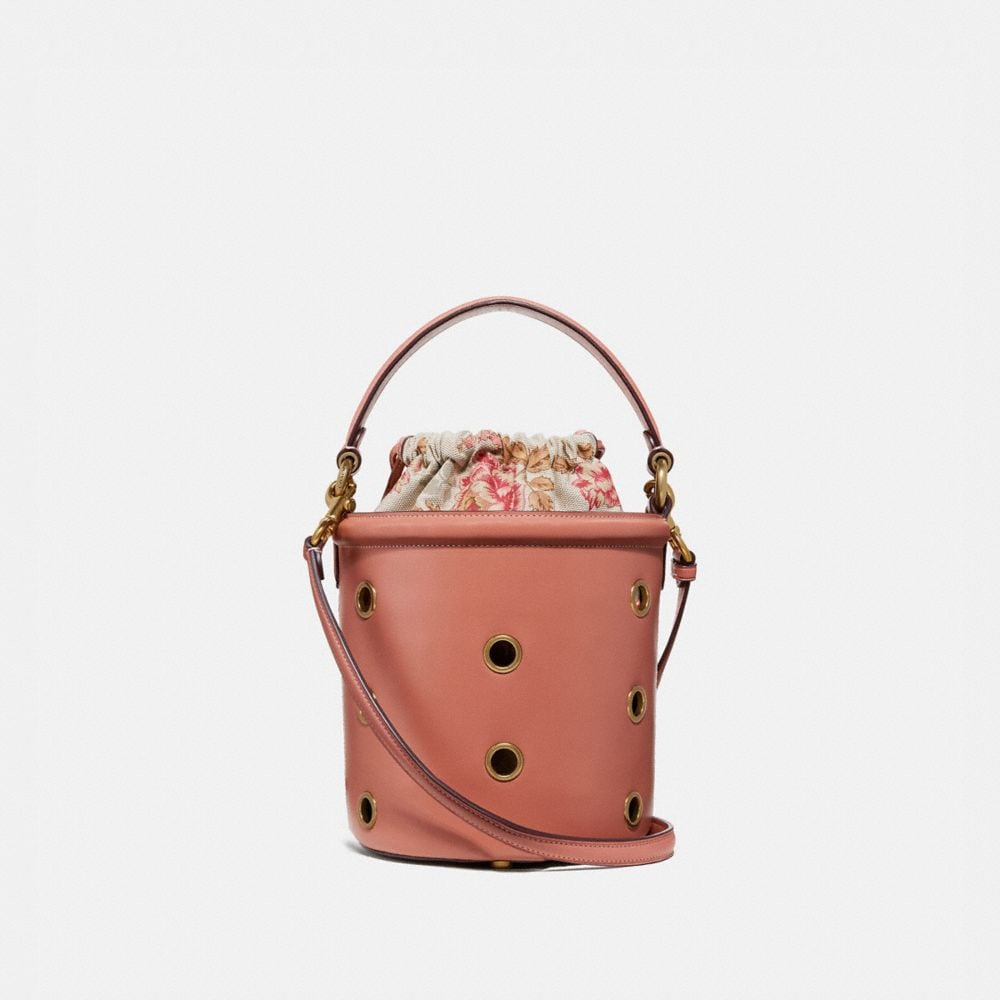 DRAWSTRING BUCKET BAG WITH GROMMETS
