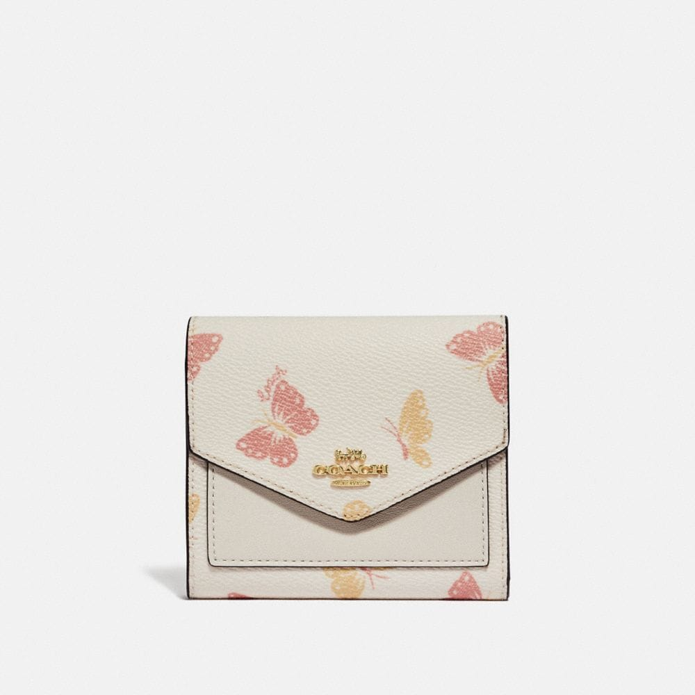 SMALL WALLET WITH BUTTERFLY PRINT