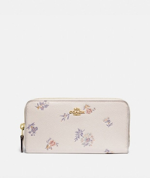 ACCORDION ZIP WALLET WITH MEADOW PRAIRIE PRINT