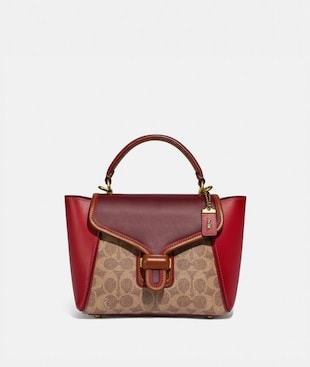 COURIER CARRYALL 23 IN COLORBLOCK SIGNATURE CANVAS